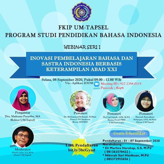 Webinar Prodi Pendidikan Bahasa Indonesia