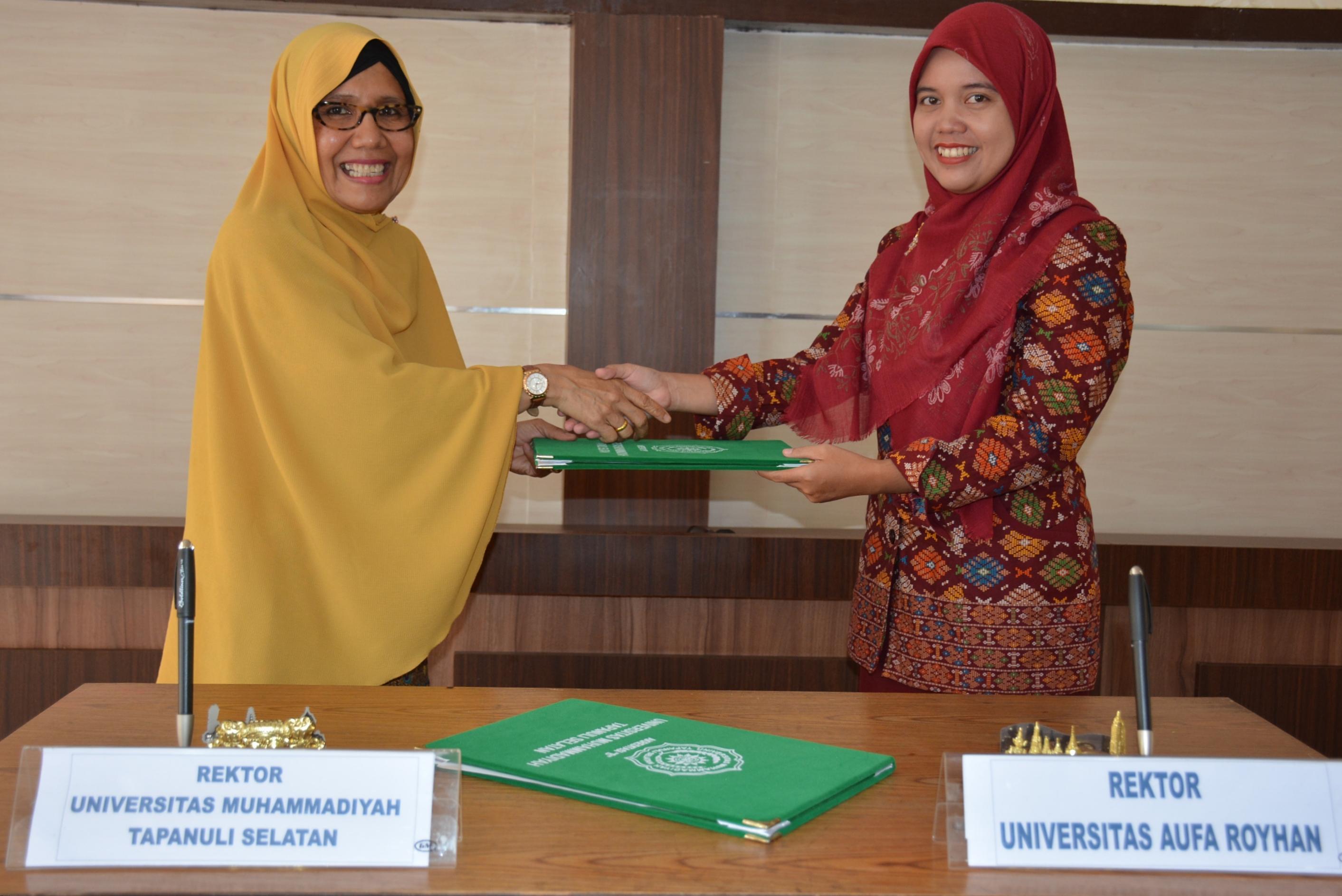 Signing Ceremony UM Tapsel dan Aufa Royhan